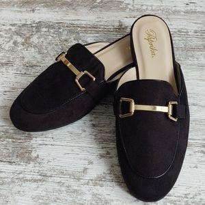 ⚂NWOT Paprika Black Loafer Slide Mule